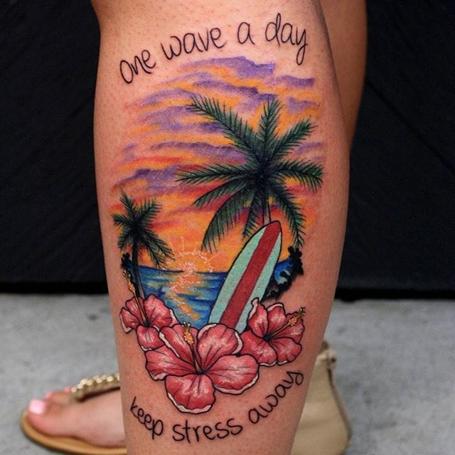 Hang Ten! Surfing Tattoos For Your Soul