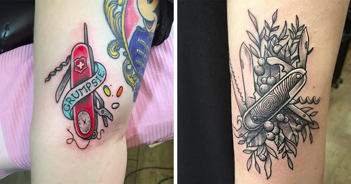 Swiss Army Knife Tattoos For All Your Wilderness