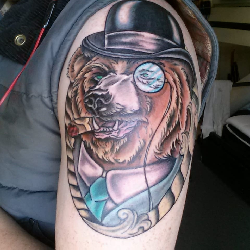 The Absolute Greatest Tattoos of Bears Wearing Hats We've Ever Seen