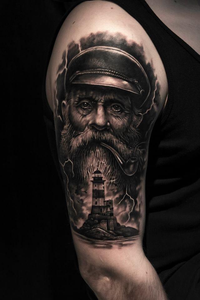 Nautical Tattoo Poseidon And Ship: 15 Powerful Nautical Tattoos