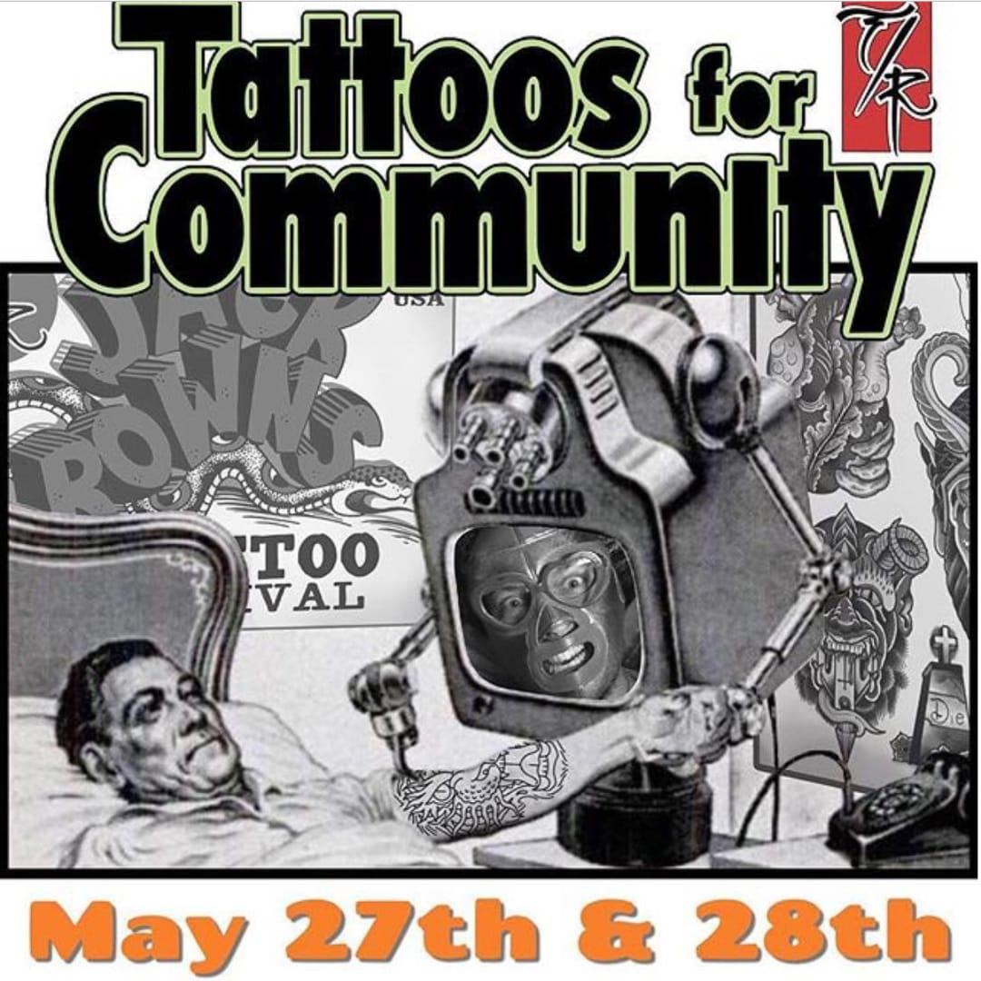 The 11th Tattoos for Community Event at Jack Brown's Tattoo Revival