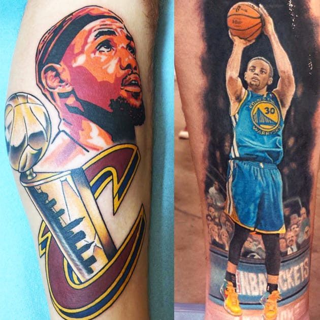 Basketball Tattoos Honoring the Corporate Behemoth that Is the NBA