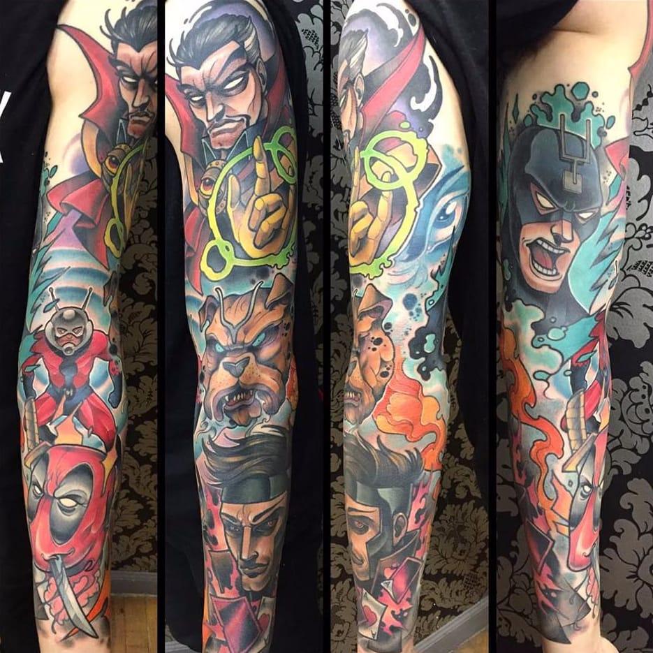19 Tatuagens Comics Sensacionais De David Tevenal