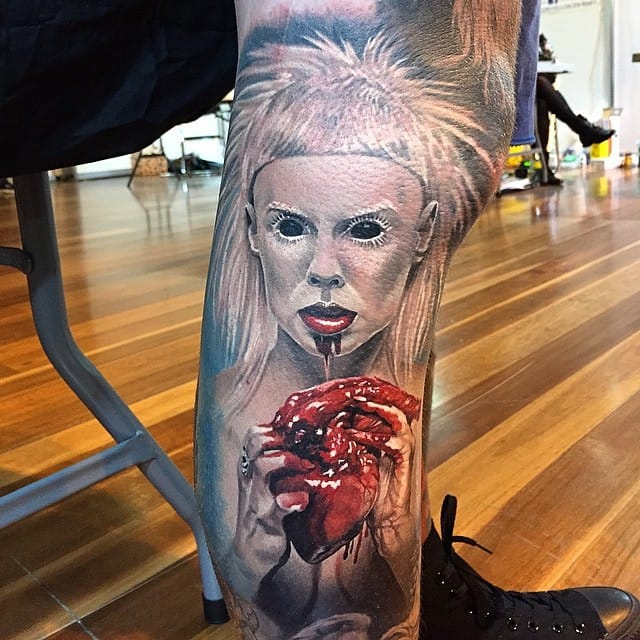 This picture of Yolandi is inspiring fans and tattoo artists. Here by Steve Butcher.