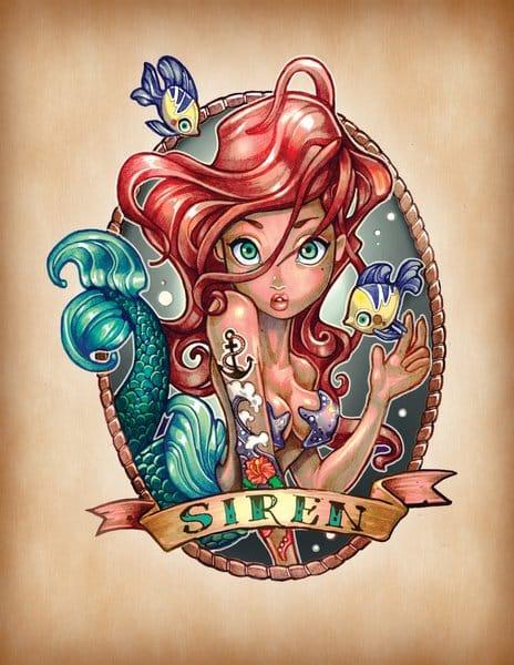 The Little Mermaid, Ariel looking fierce!