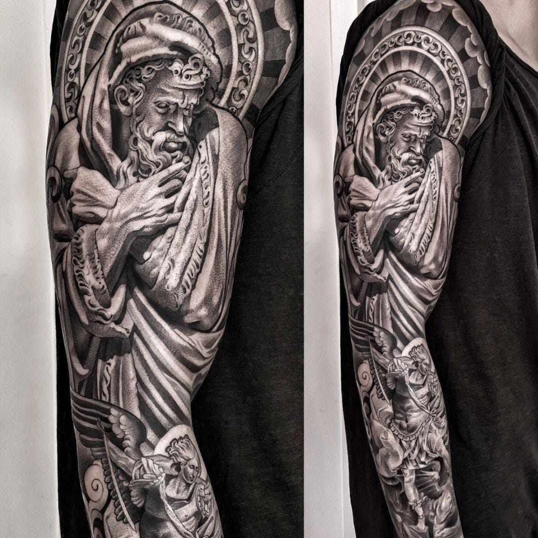 By Fusing Graffiti and Realism, Lil B Makes Religious Tattoos Pop