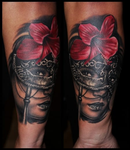20 Most Exquisite Venetian Mask Tattoos