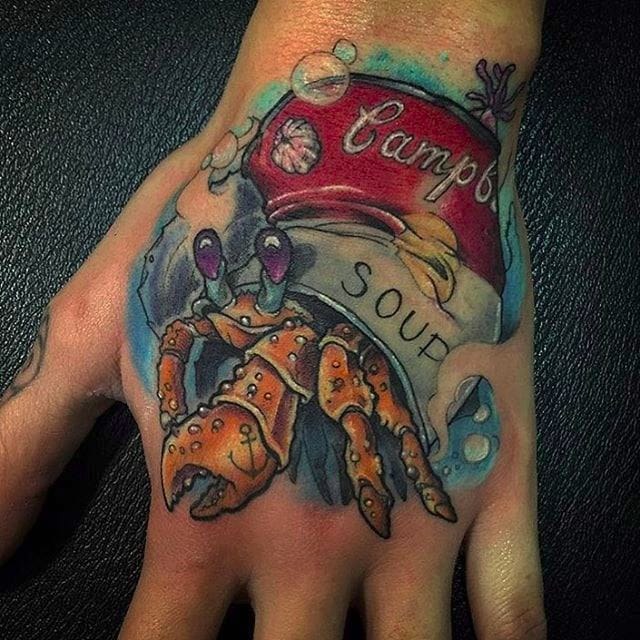 9 Tattoos of Hermit Crabs Living Inside of Things That Aren't Shells