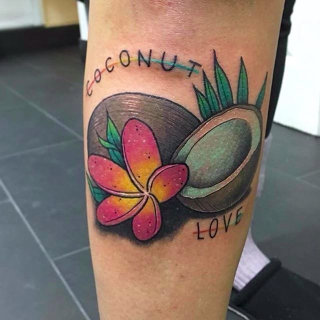 Coconut Tattoos For The Tropical Fruit In All Of Us