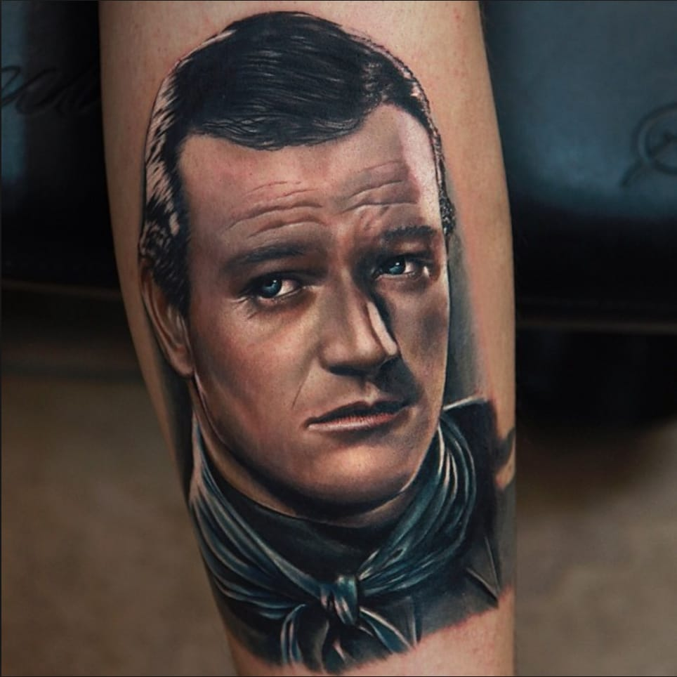 Tributes to the Duke — Tattoo Portraits of John Wayne