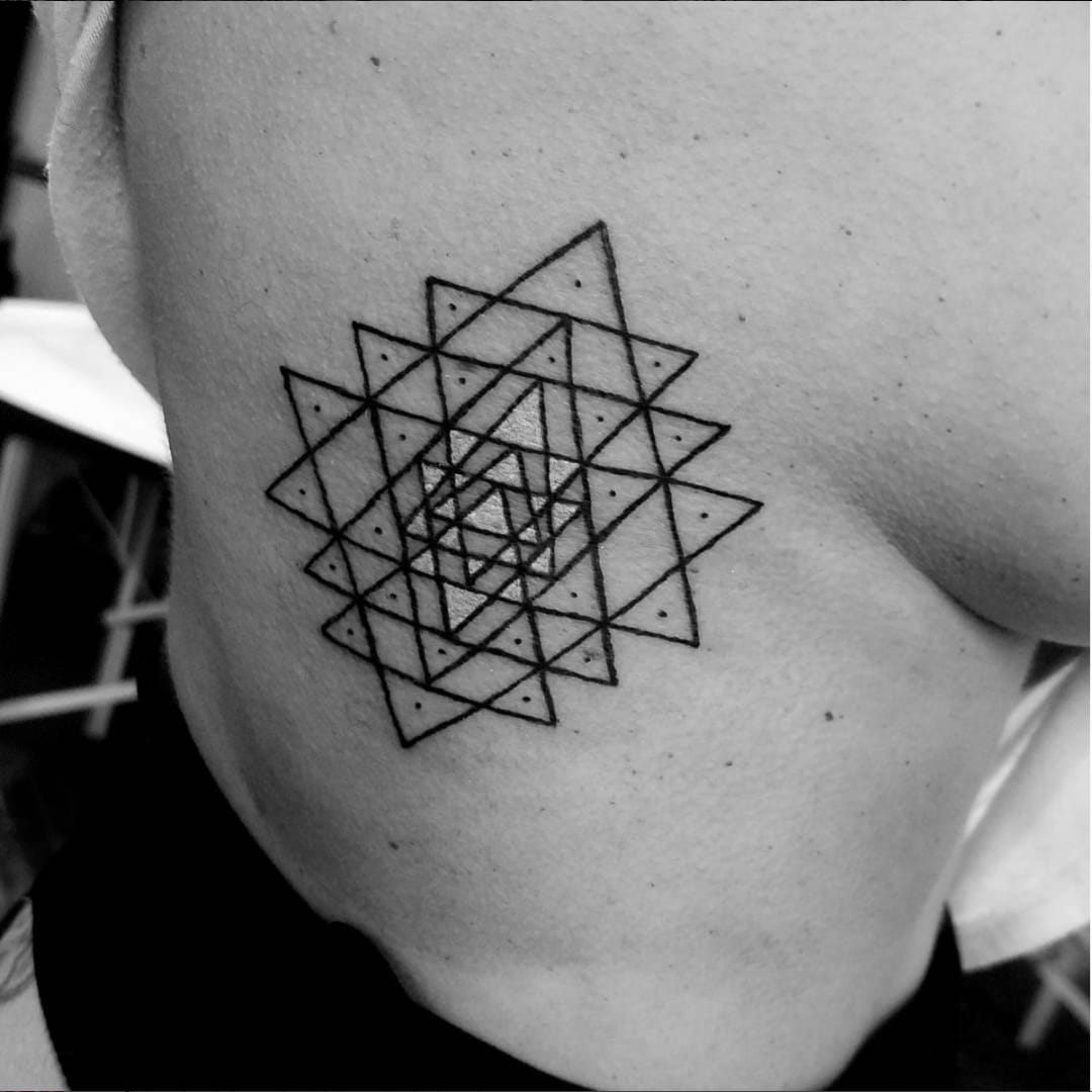 Sri Yantra Tattoos and The Beauty of the Three Worlds