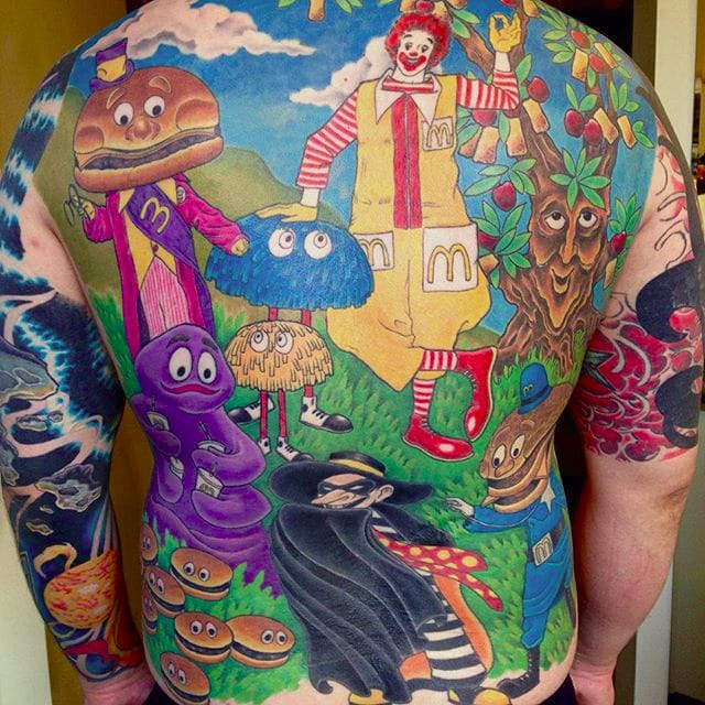 McDonald's Tattoos For The Literal Fast Food Junkies