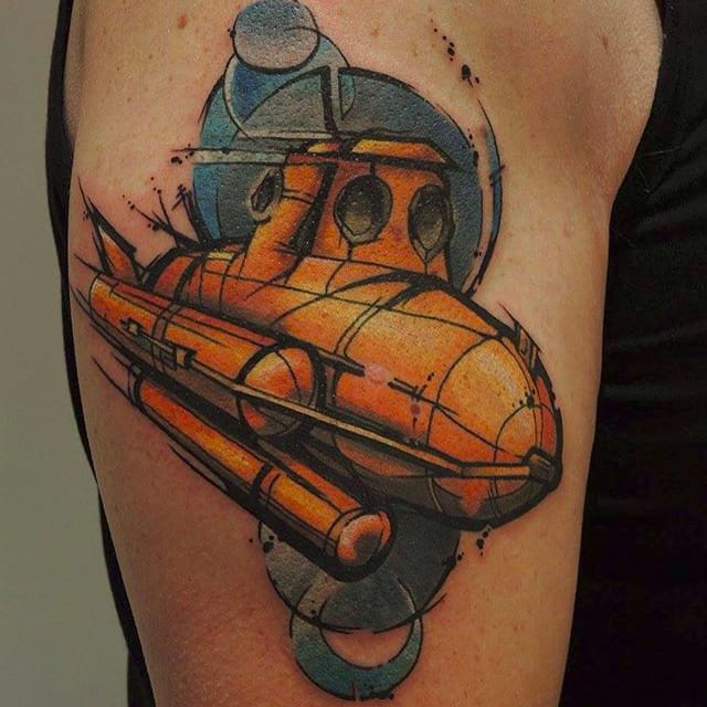 Submarine Tattoos For the Loads of Seamen Serving Under the Waves