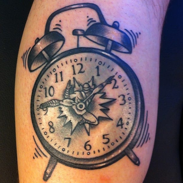 Wake Up To the Jarring Sounds of These Alarm Clock Tattoos