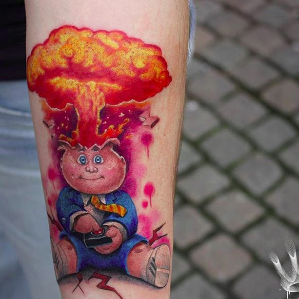 Gross Out Your Parents Forever With Garbage Pail Kids Tattoos
