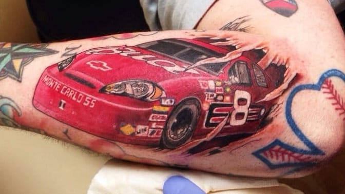Crossing The Finish Line With NASCAR Tattoos