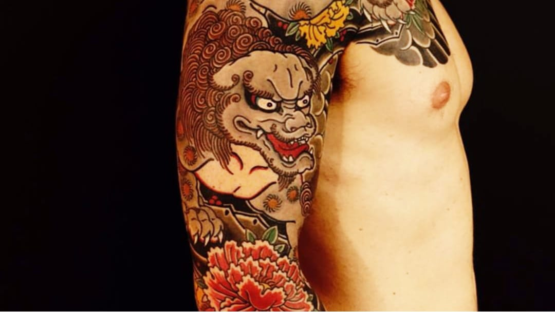 Foo Dogs The Mythological Lions Of Traditional Japanese Tattoos
