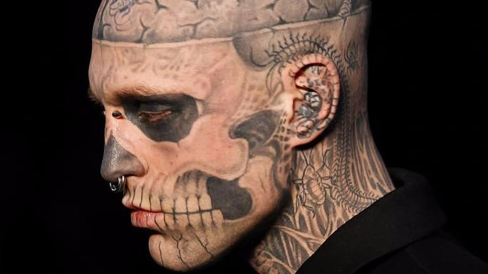Face tattoos think before you ink but keep an open mind for Tattoo of ice cream cone on face
