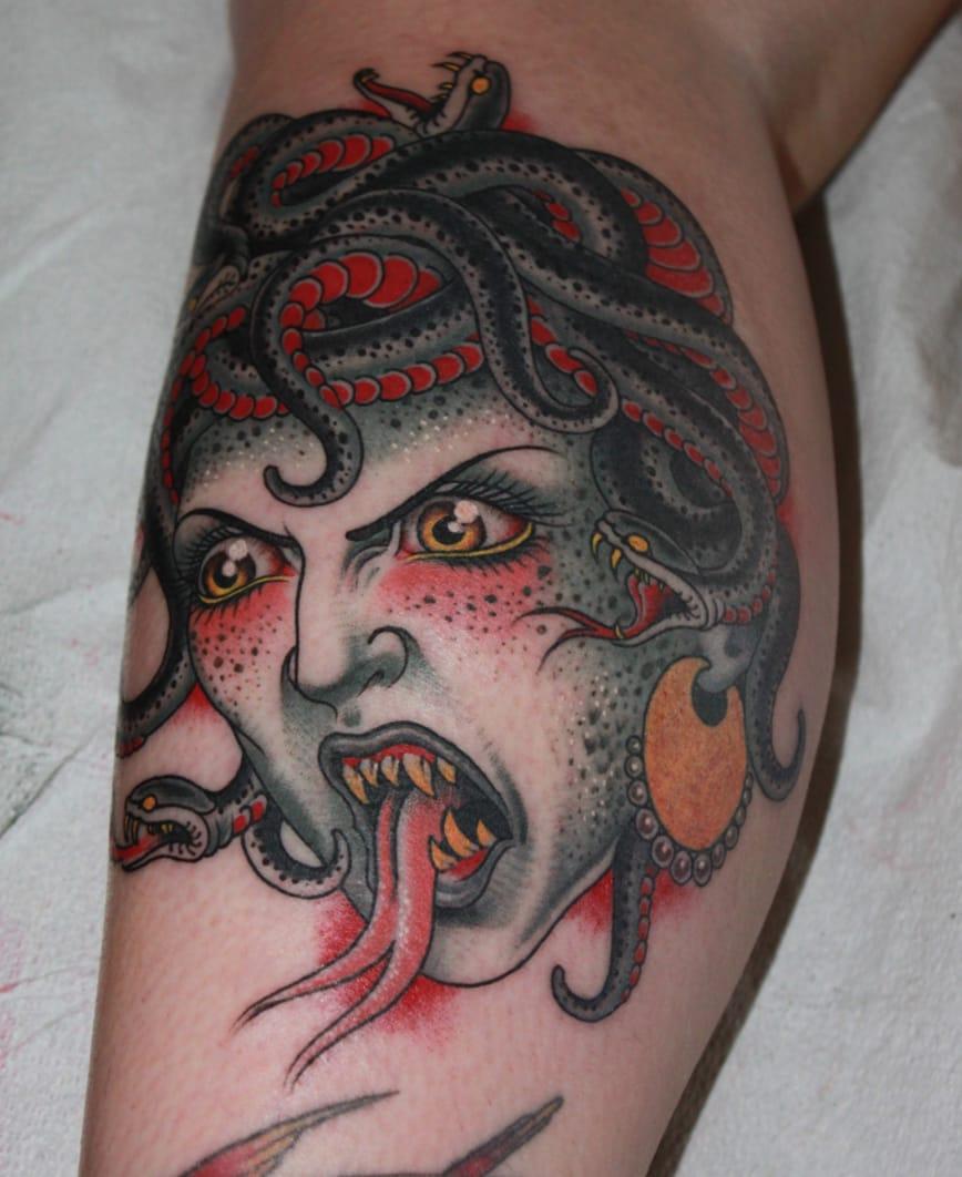 Traditional Medusa Tattoo Tumblr