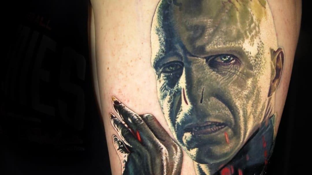 Tattoos of the Villains That Keep Harry Potter on His Toes