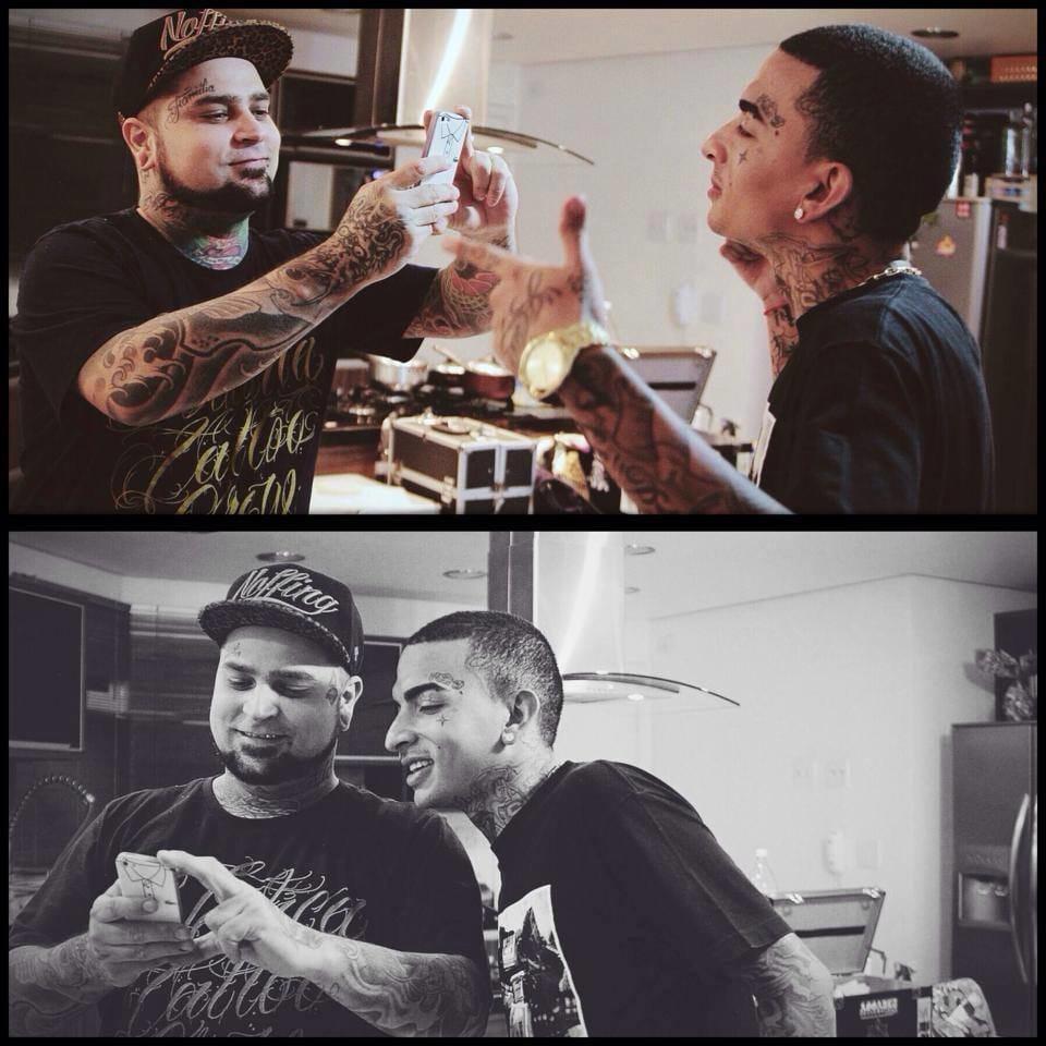 Adão Rosa, tatuador do Guimê. Quase irmãos