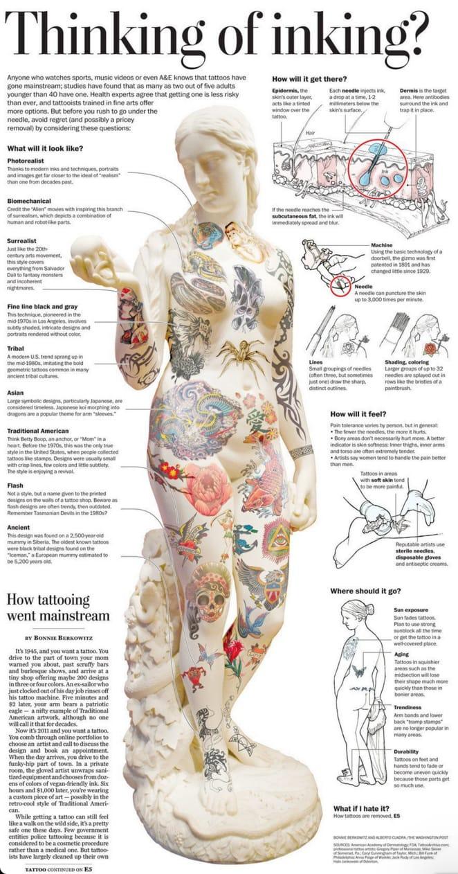 Infographic new tattoo