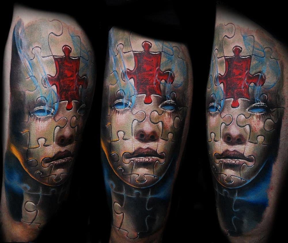 15 Brilliant Puzzle Tattoos