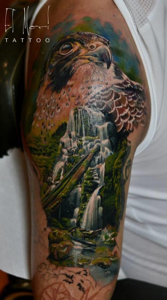 Amazing half sleeve by El Mori.