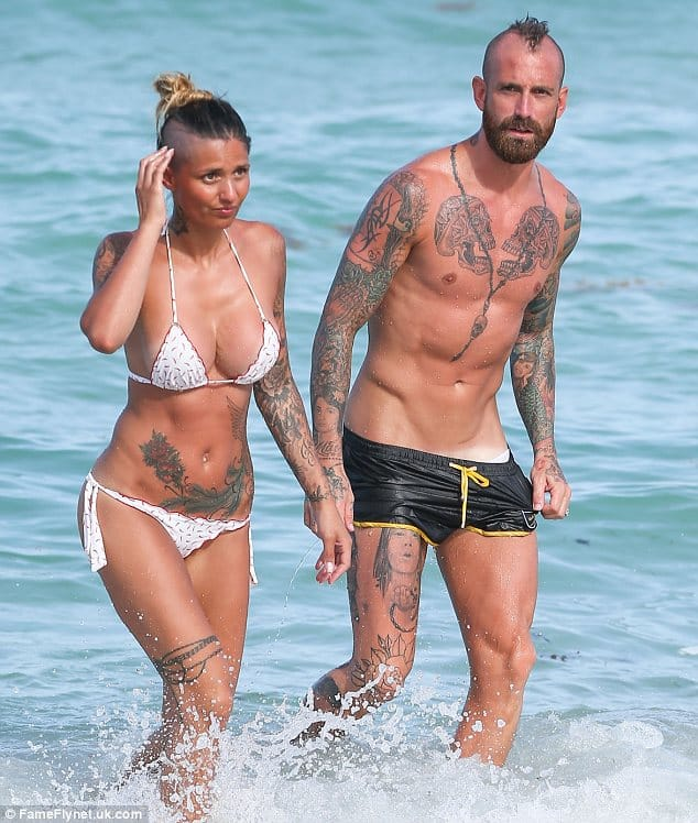 Mr and Mrs Meireles looking awesome and inked!