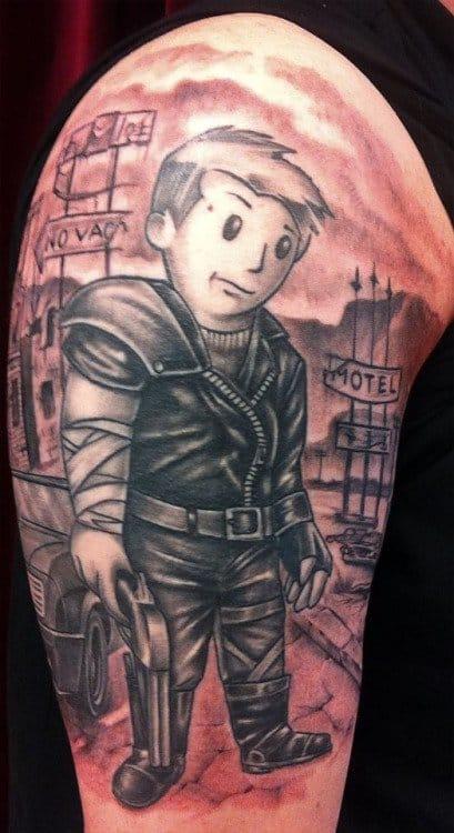Mad Max meets Vault Boy, artist unknown!