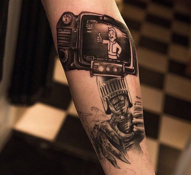 Pip Boy tattoo by Niki Norberg