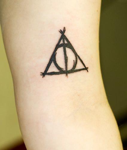 Harry Potter fan tattoo #harrypotter #triangle