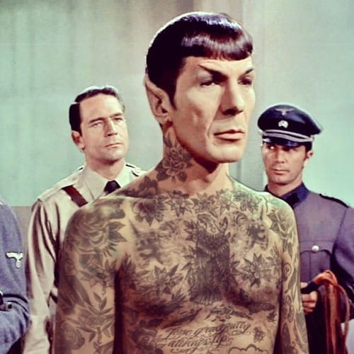 Photoshopped tattooed celebrities; Spock