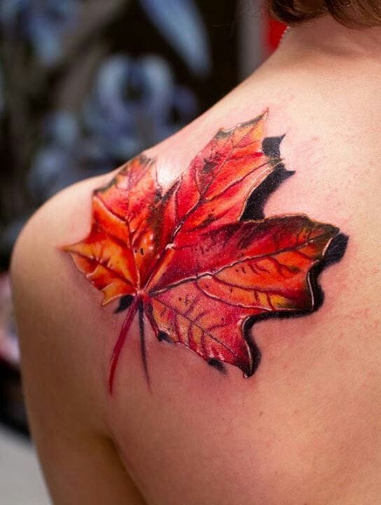 Realistic leaf... artist unknown