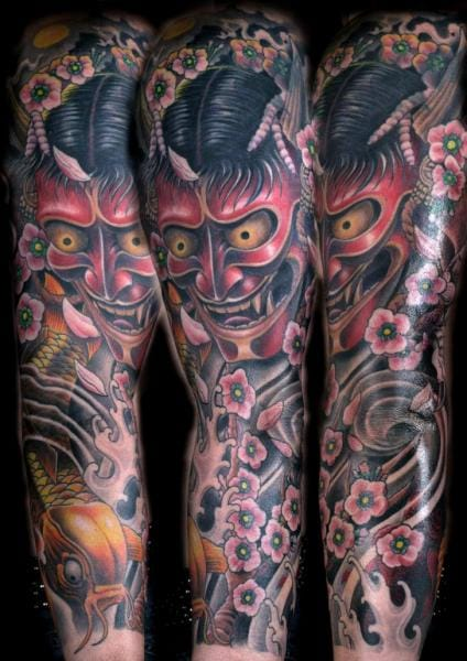 Japanese demon sleeve by Corpse Painter