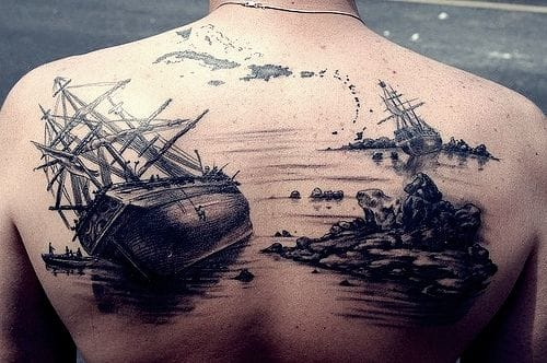 10 Beautiful And Meaningful Sailing Ship Tattoos
