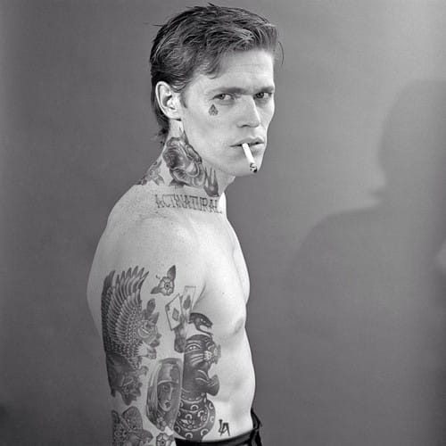 Photoshopped tattooed celebrities; William Dafoe