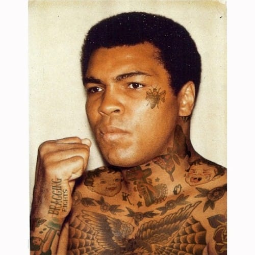 Photoshopped tattooed celebrities; Muhammad Ali