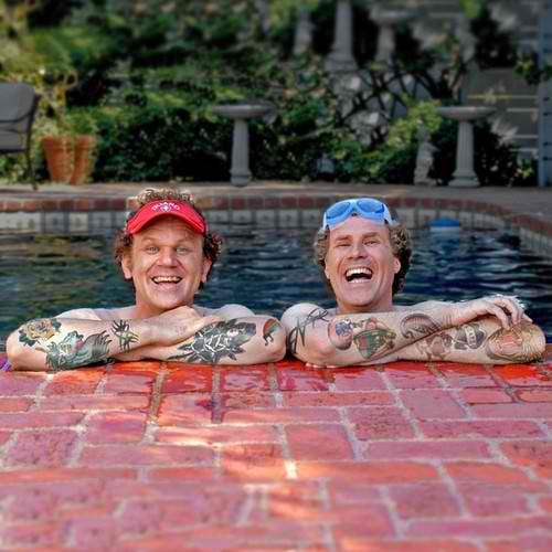 Stepbrothers with photoshopped tattoos