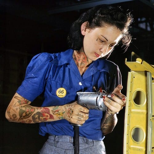 Women of the War rockin' some ink