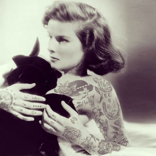 Katharine Hepburn featuring tattoos