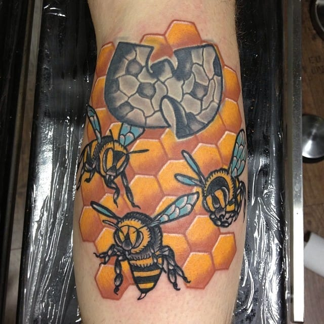 Bees made at Borderlines Tattoo.