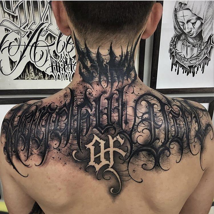 Gothic Graffiti and Calligraphic Script: Lettering Tattoos