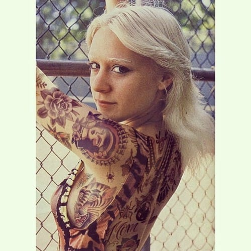 And Chloe Sevigny with photoshopped tattoos