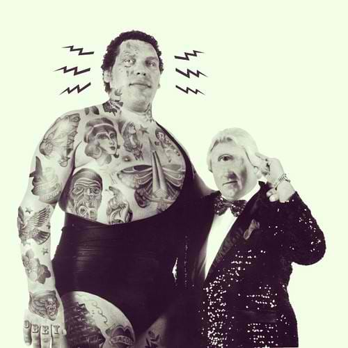 Photoshopped tattooed celebrities Andre the Giant
