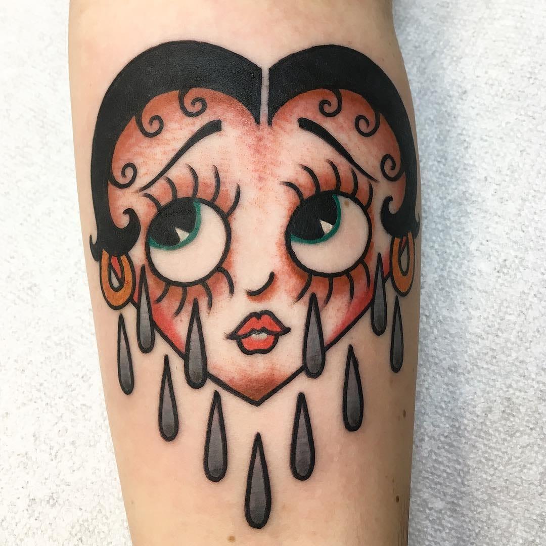 Boop-Oop-a-Doop! Super Cute Betty Boop Tattoos