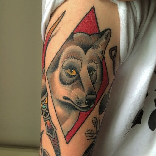 Wolf tattoo by Thomson Tattoos #thomsontattoo #wolf #wolftattoos
