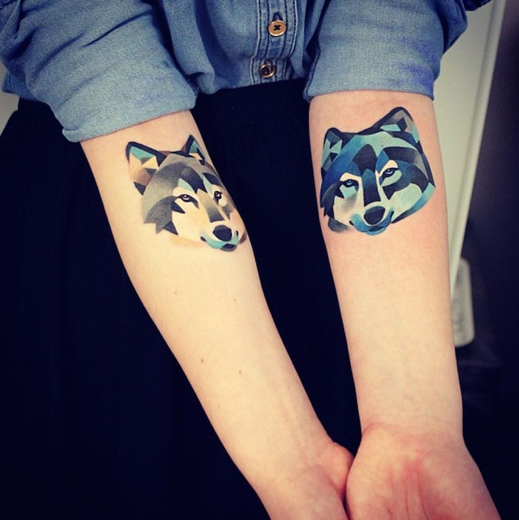 Wolf tattoo by Sasha Unisex
