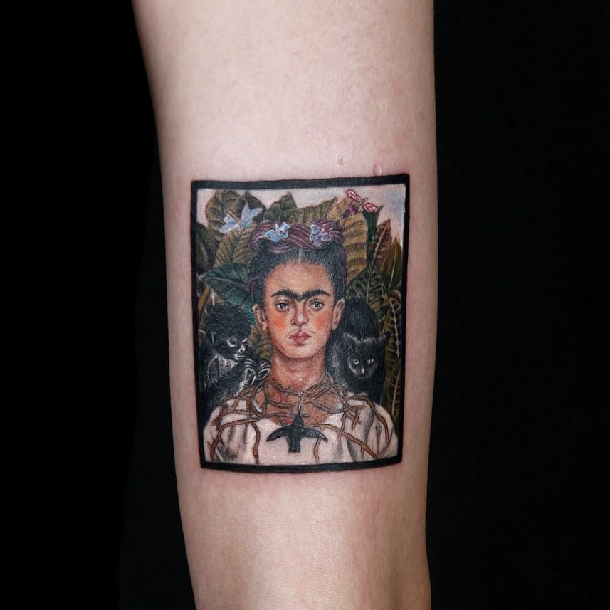 The Wounded Deer: Beautiful Frida Kahlo Tattoos