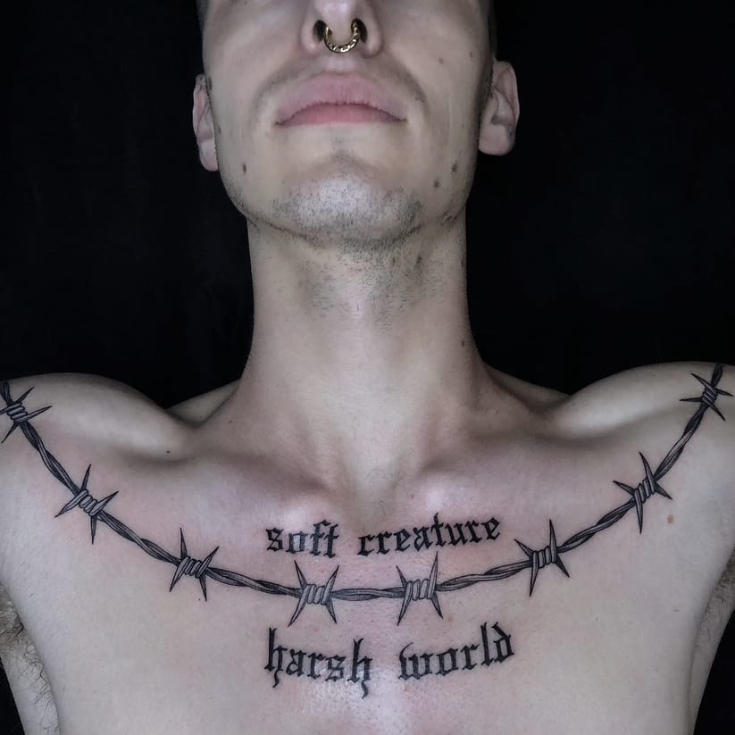 Cuts to the Quick: Barbed Wire Tattoos